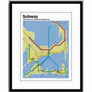 CI-Subway-Map-Framed